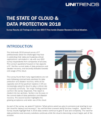 The State of Cloud & Data Protection 2018
