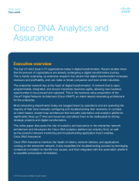 Cisco DNA Analytics and Assurance