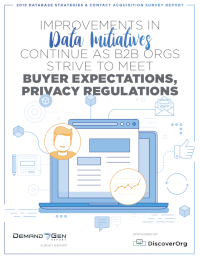 2019 Database Strategies and Contact Acquisition Survey Report
