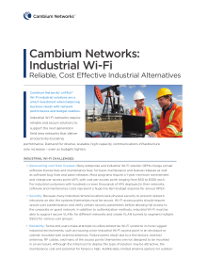 Cambium Networks: Industrial Wi-Fi