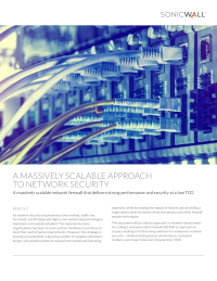 A Massively Scalable Approach to Network Security