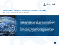 5 Reasons Why Enterprises are Moving to Broadband their WAN