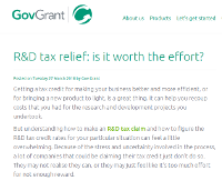 R&D tax relief: is it worth the effort?