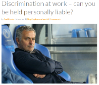 Discrimination at work – can you be held personally liable?