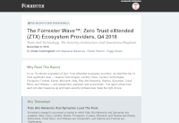 The Forrester Wave™: Zero Trust eXtended (ZTX) Ecosystem Providers