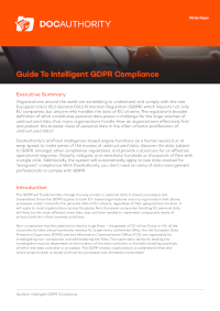 Guide To Intelligent GDPR Compliance [Whitepaper]