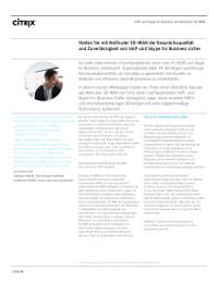 Sicherstellung hoher Gesprächsqualität sowie Zuverlässigkeit für VoIP und Skype for Business