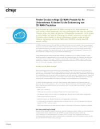 Wahl des besten SD-WAN-Produkts für Ihr Unternehmen