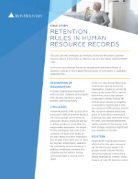 Retention Rules in Human Resource Records (Case Study)