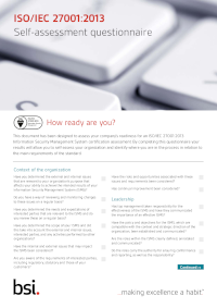 Assess Your Company's Readiness for an ISO/IEC 27001 Information Security Management System
