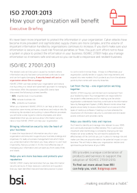 ISO 27001: How will your organisation benefit?