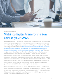Making Digital Transformation Part of your DNA