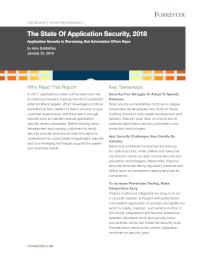 Anwendungssicherheit in 2018
