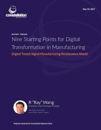Nine Starting Points for Digital Transformation in Manufacturing