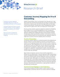 Customer Journey Mapping for B-to-B Storytelling