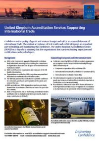 United Kingdom Accreditation Service: Supporting International Trade