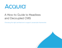 A How-To Guide to Headless and Decoupled CMS
