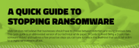 [Infographic] A Quick Guide to Stopping Ransomware