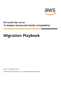 Migrate from Microsoft SQL Server to Amazon Aurora MySQL