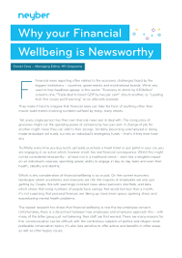 Why your Financial Wellbeing is Newsworthy