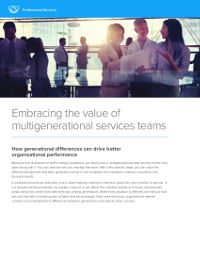 Embracing the value of multigenerational services teams