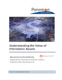 Understanding the Value of Information Assets