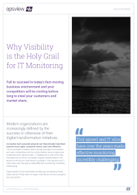 Why Visibility is the Holy Grail for IT Monitoring