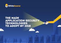 Anwendungssicherheitstechnologien in 2018