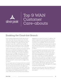 Top 9 WAN Customer Care-abouts