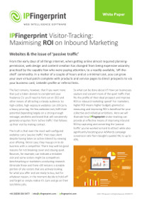 IP Fingerprint Visitor-Tracking: Maximising ROI on Inbound Marketing