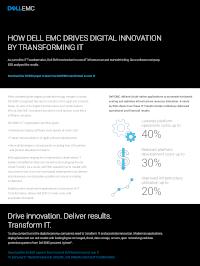 How Dell EMC Drives Digital Innovation by Transforming IT