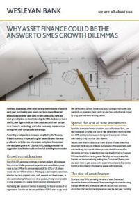 Why Asset Finance could be the Answer to SMEs Growth Dilemma