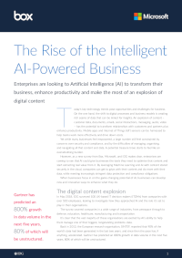 The Rise of the Intelligent AI-Powered Business