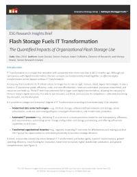 Flash Storage Fuels IT Transformation