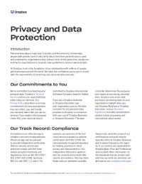 Privacy and Data Protection - a Dropbox whitepaper