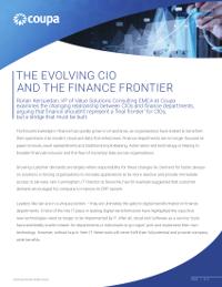 Der sich verändernde CIO und die Grenze des Finanzwesens