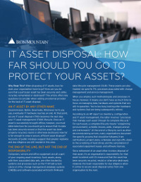 IT Asset Disposal: How Far Should You Go to Protect Your Assets?