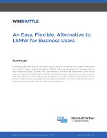 An Easy, Flexible, Alternative to LSMW for Business Users