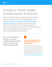 3 ways to impact digital transformation in finance