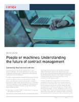People or Machines: Understanding the Future of Contract Management