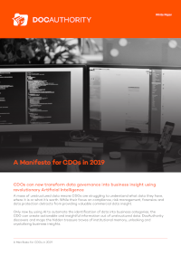 A Manifesto for CDOs in 2019