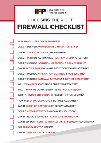 Choosing the Right Firewall [Checklist]