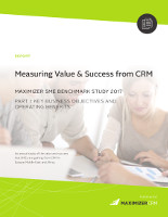 Measuring Value & Success from CRM: Annual Benchmark Study 2017