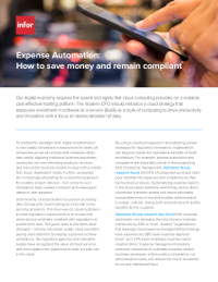 Expense Automation: How to save money and remain compliant