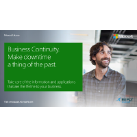 Business Continuity. Make Downtime a Thing of the Past