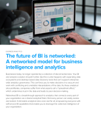 The future of BI is networked: A networked model for business intelligence and analytics