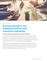 Driving change in the financial services and insurance industries