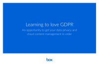 Learning to Love GDPR