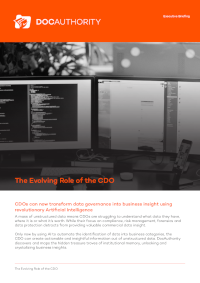 The Evolving Role of the CDO