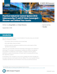SANS Whitepaper Practical Industrial Control System (ICS) Cybersecurity
